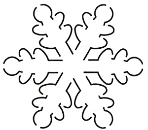 Amazon.com: Quilting Creations Snowflake Quilt Stencil, 5 x 5-1/2
