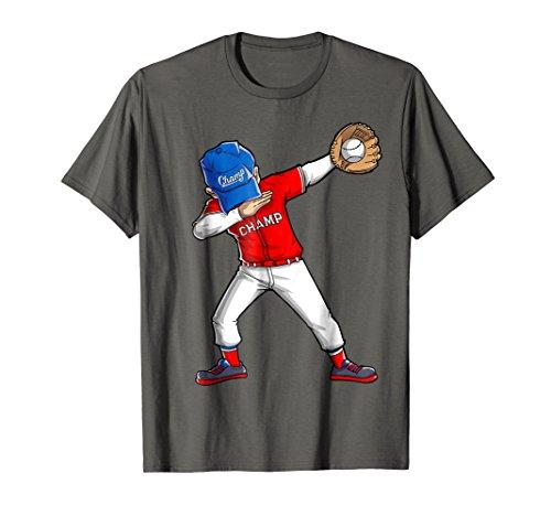 Dabbing Baseball T Shirt Boys Men Kids Catcher Pitcher Gifts