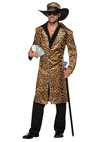 (Forum 78886 Men's Old School Funky Leopard Jacket and Hat, Standard, Pack of)