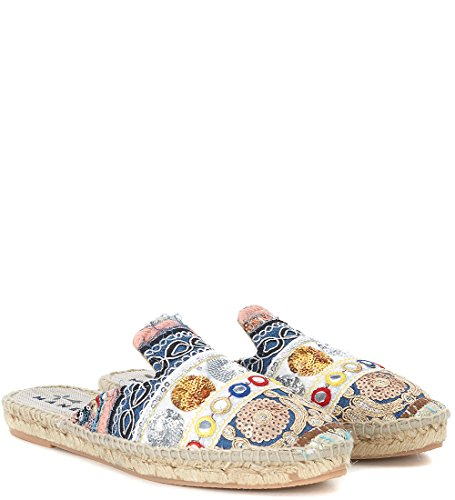 In Manebí E Pailettes Con Tessuto Multicolore Ricami Rajasthan Mules qqxwET6P