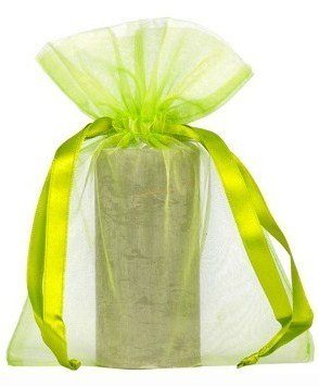 10 pcs bolsas de Organza 15 x 20 cm, color verde: Amazon.es ...