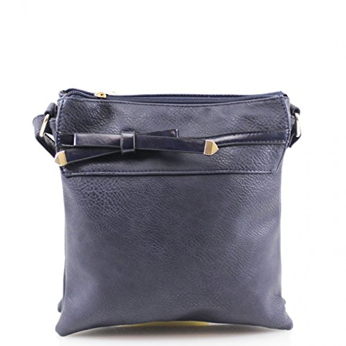 Leather Bow For LeahWard Messenger Ladies Bags Faux Cross Bags Body Women Bag Holiday NAVY Handbag Women's x66FwE