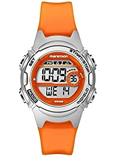 Timex #TW5K96800 Womens Marathon Alarm Chronograph Orange Band Digital Watch