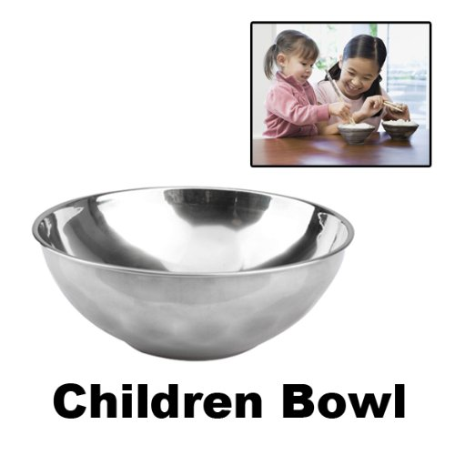 Classic Anti-Rust Stainless Steel Smooth Rolled Edge Resistant Safe Kids Bowl BS -OmenTech
