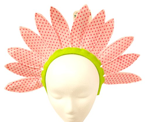 Hanover Accessories Pink Daisy Sunflower Flower Party Polka Dot Headband