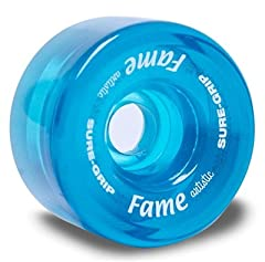 Sure-Grip Artistic Fame wheels are 57mm in size. Ideal for competition skaters, they have a hardness of 97A. The USA made Clear colored Artistic series provides quicker response and speed. An excellent wheel at a fraction of the competitions ...