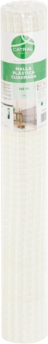Catral 52010014 - Rollo malla cuadrada, 0.2 x 500 x 100.0 cm, color blanco