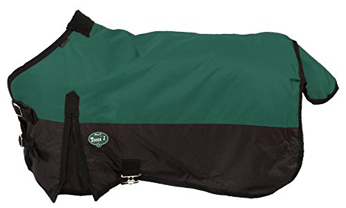Tough 1 600D Waterproof Poly Miniature Turnout Blanket, Hunter Green, 50'' by Tough 1