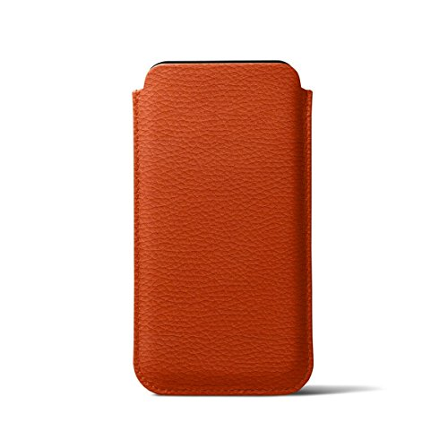 Lucrin - Classic Case for iPhone X - Orange - Granulated Leather by Lucrin (Image #5)
