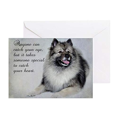 CafePress Keeshond Greeting Card, Note Card, Birthday Card, Blank Inside - Keeshond Note