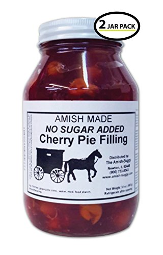(Amish Pie Filling No Sugar Added Cherry - TWO 32 Oz Jars)