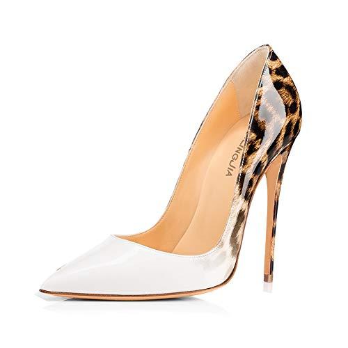 460 Tendance Pointu Soirée White Femmes mwoook Talon Sexy Club Chic Chaussures Escarpins Mariage Dégradées Stiletto Simples Haute qg0xUz