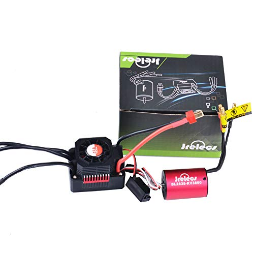 (Jrelecs Newset 2838 3800KV 4P Sensorless Brushless Motor & All Waterproof 45A Brushless ESC Electronic Speed Controller for 1/12 1/14 1/16 1/18 RC Car)
