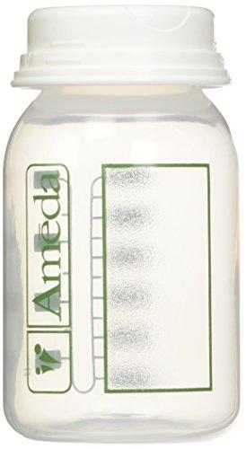 Ameda Breast Milk Storage Bottles, 4 Ounce, 4 Pack