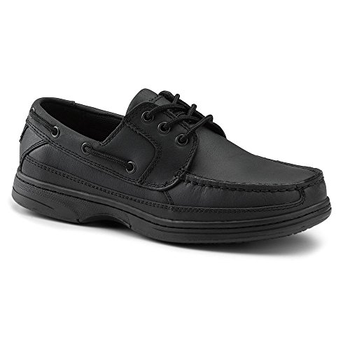 06. Dockers SureGrip Mens Pier Black Boat Shoe Slip Resistant Work Shoes