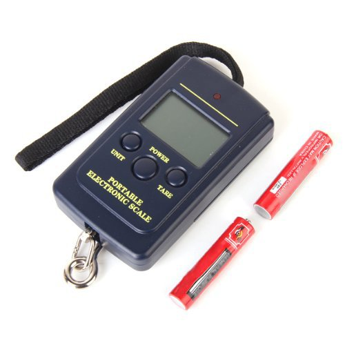 TOOGOO(R) Portable Digital Hanging Fishing and Luggage Scale 40Kg Max Weighing--Low Power Alarm, Battery Included