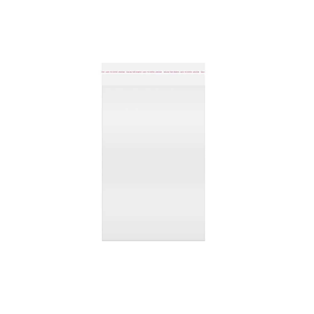 Self Sealing Bags 5x7 300ct Clear Resealable Cellophane Bags OPP Cello Bags 1mil for Cookies Decorative Wrappers Bakery Party Favors Jewelry Crafts Candies Candles Gift