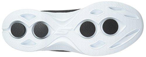Damen Schwarz schwarz 4 36 Skechers Sneakers Walk EU Go weiß Weiß Glorify Owvdxfv