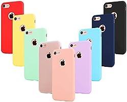 """9 × Custodia iphone 6 Cover Silicone , Leathlux Ultra Sottile Morbido TPU Custodie Protettivo Gel Cover per iphone 6S / 6 4.7"""" Rosa,Verde,Porpora,Azzurro,Giallo,Rosso,Blu scuro,Traslucido,Nero"""