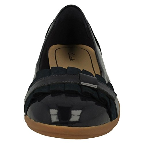 Para Feya Clarks Piel De Cordones Zapatos Mujer Island Azul nfYrUSqY