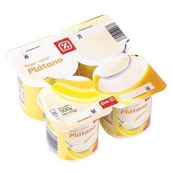 DIA - Yogur Plátano Pack 4 Unidades 125 G: Amazon.es: Alimentación y bebidas