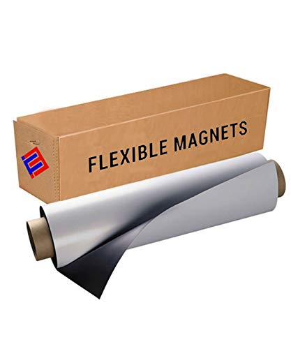 Flexible Vinyl Roll of Magnet Sheets - White, Super Strong & Ideal for Crafts - Commercial Inkjet Printable (2 ft x 25 ft x 30 mil)
