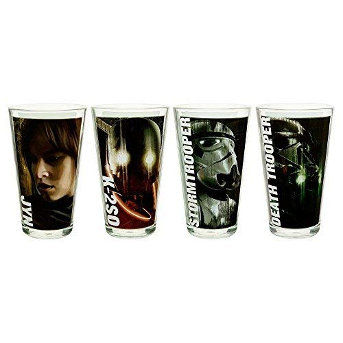 Zak Designs Star Wars Rogue One 4 Piece Glass Drinkware Set