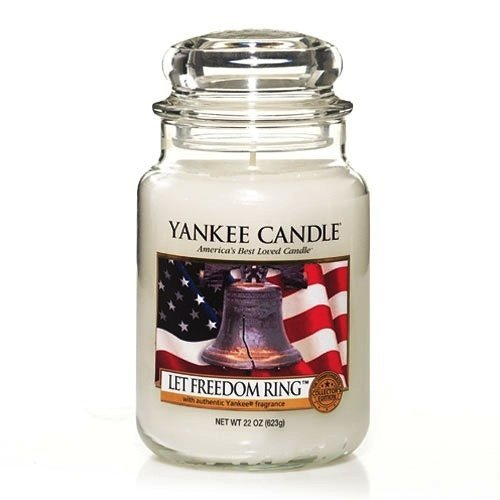 Yankee Candle Let Freedom Ring Fragrance with Liberty Bell - Large Jar 22 ounce Housewarmer Candle - Discontinued Americana Collection Retired USA Exclusive Collector's Edition (Bell Jar Collection)