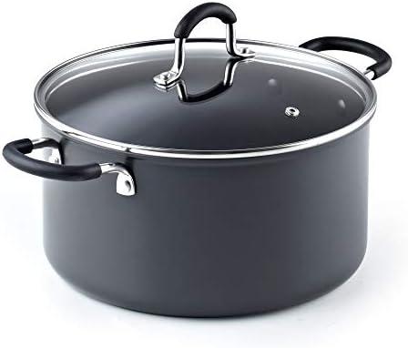 Cook N Home 02634 6QT 24CM Anodized Nonstick Casserole, 6Quarts, Black