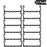 12 Pack Space Saving Hangers, Clothes Organizer Sturdy Plastic Magic Hangers for Shirts Pants Coats Suits Clothes Hangers