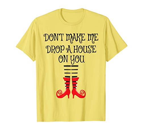 Don't Make Me Drop A House On You Witch Legs Halloween Tee ()