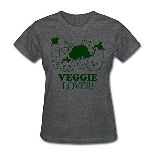 Veggie Lover Women's T-Shirt by Spreadshirt, XL, deep heather