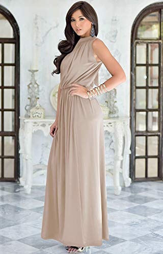 45f56c9bcbe KOH-KOH-Petite-Womens-Long-Sexy-Sleeveless-Bridesmaid-Halter-Neck-Wedding- Party-Guest-Summer-Flowy-Casual-Brides-Formal-Evening-A-line-Gown-Gowns-Maxi-Dress  ...