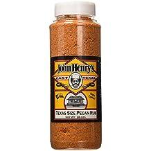 Texas Size John Henry's East Texas Pecan Rub BBQ Seasoning - 26 Ounce
