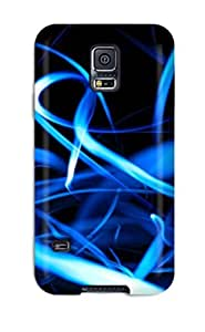 ZhkqoFg2710rLQqP Tpu Case Skin Protector For Galaxy S5 Artistic Blue Lights With Nice Appearance