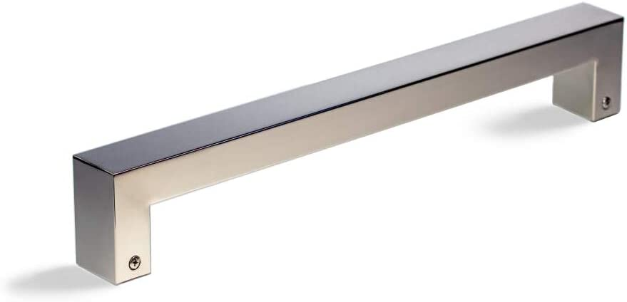 48 Inch Square Rectangle Flat Shape Stainless Steel Modern Contemporary Entry Door Handle Towel Bar Pull Shower Glass Sliding Barn Door Interior Exterior Door Pull Push Chrome Mirror Polished Finish Amazon Com