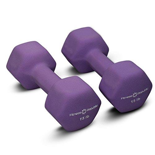 Halters, neopreen Dumbbell Exercise Arm Hand Gewichten Pilates Halters in 0,5 kg tot 10 kg per paar worden verkocht…
