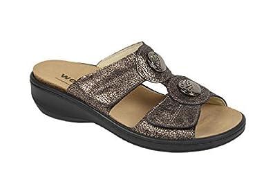 Keil-Pantoffel mit auswechselbarem Fußbett bronze Gr. 36 Weeger g3JLy3kv