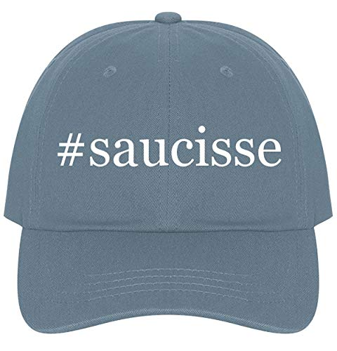 (The Town Butler #Saucisse - A Nice Comfortable Adjustable Hashtag Dad Hat Cap, Light Blue)