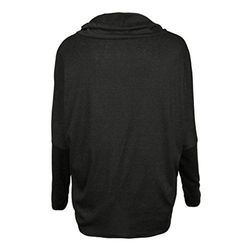 Longues Blouse Pull Cou Bow Sweatshirt Manches Tops Noir Femmes Tonsee aqtwSS