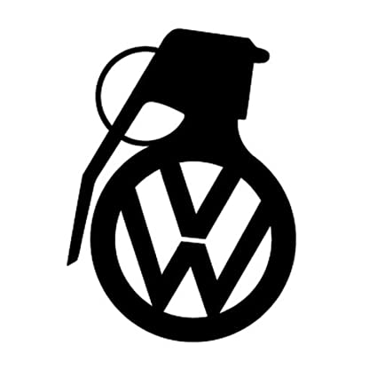 Volkswagen vw grenade bomb window sticker vinyl decal jetta gti r32 passat