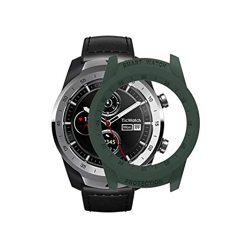 TicWatch Pro Case SIKAI Protective Anti-Scratch Bumper Cover for TicWatch Pro Smart Watch Ultra-Light Multi-Colors (Army Green)