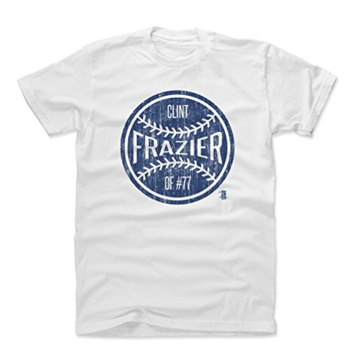 500 LEVEL Clint Frazier Cotton Shirt Small White - New York Baseball Men's Apparel - Clint Frazier New York Ball B