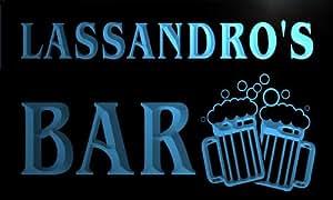 w149900-b LASSANDRO Name Home Bar Pub Beer Mugs Cheers Neon Light Sign