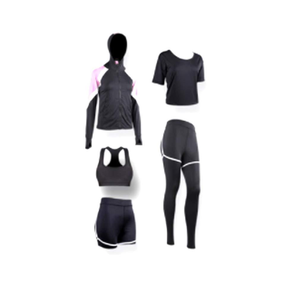 1 Women's 5Piece Sports Suit, Yoga wear, Running Suit Gym Sportswear, Fitness Training Suit