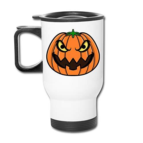 Rhfjgk Ldjg Halloween Evil Pumpkin Face Stainless Steel 15 OZ Travel Car Cup Vacuum Insulated Keeps Hot Or -