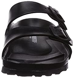 Birkenstock Men\'s Arizona EVA Slide Sandals, Black Synthetic, 43 M EU, 10-10.5 M