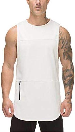 タンクトップ メンズ メンズ夏のベストI字型のスポーツシャツコルセット快適な通気性のトレーニングフィットネスベスト 夏 スポーツ フィットネス (色 : C1, Size : L)