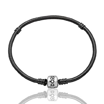 12c661893 Authentic Pandora Clasp Sterling Silver Oxidised Bracelet 7.5