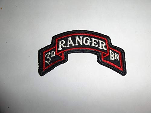 Military Patch SEW ON Scroll TAB 3RD Ranger BN Colored Approx 3 INCHES ()
